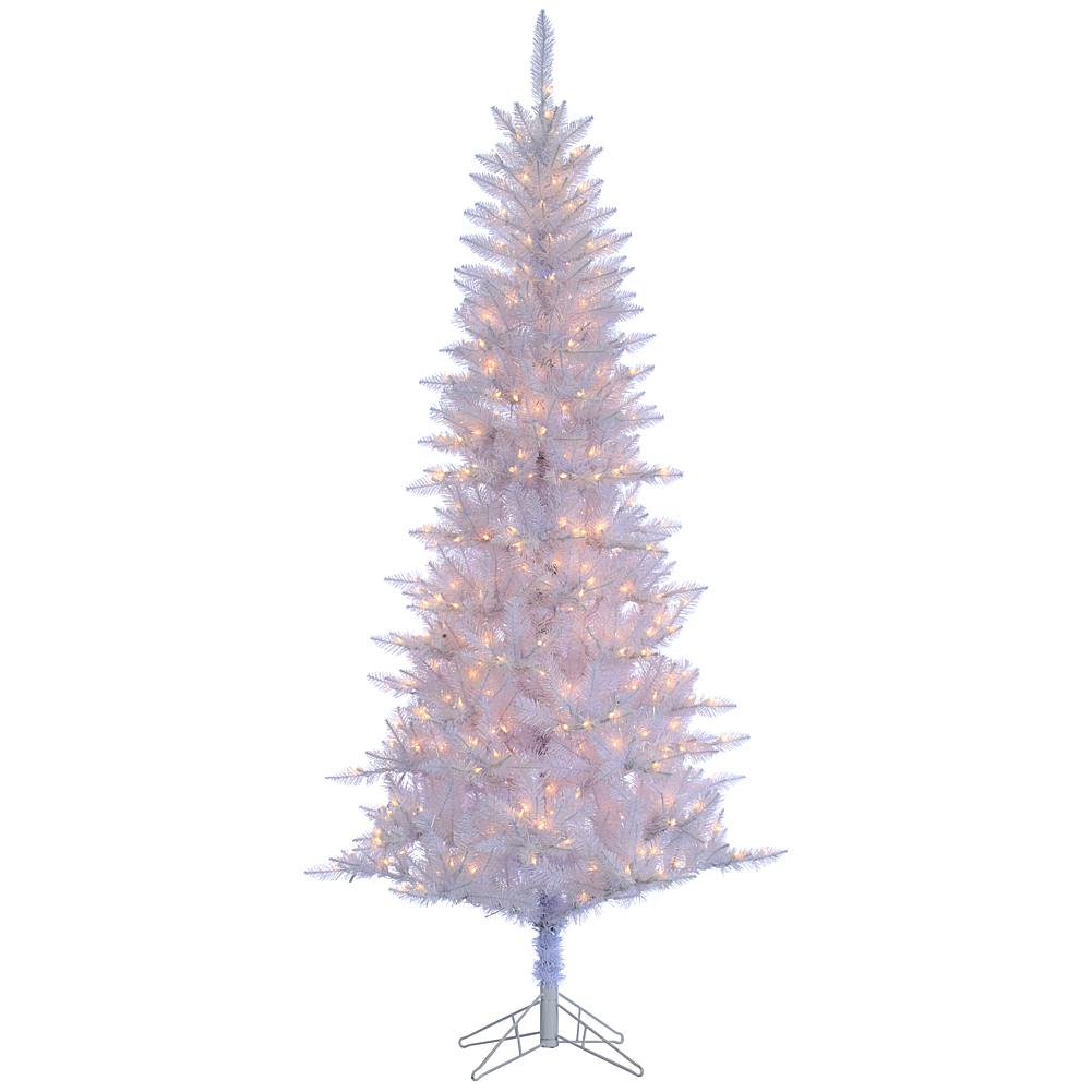Sterling 7-1/2' White Tiffany Tinsel Lighted Christmas Tree