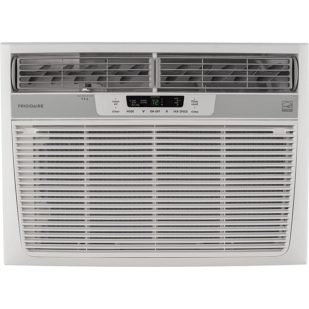 Frigidaire 18,000 BTU Window-Mounted Median Air Conditioner with Temperature-Sensing Remote