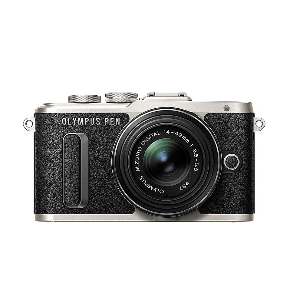 Olympus PEN E-PL8 16MP Changeable Lens Camera with 14-42mm IIR Lens - Black Body with Black Lens