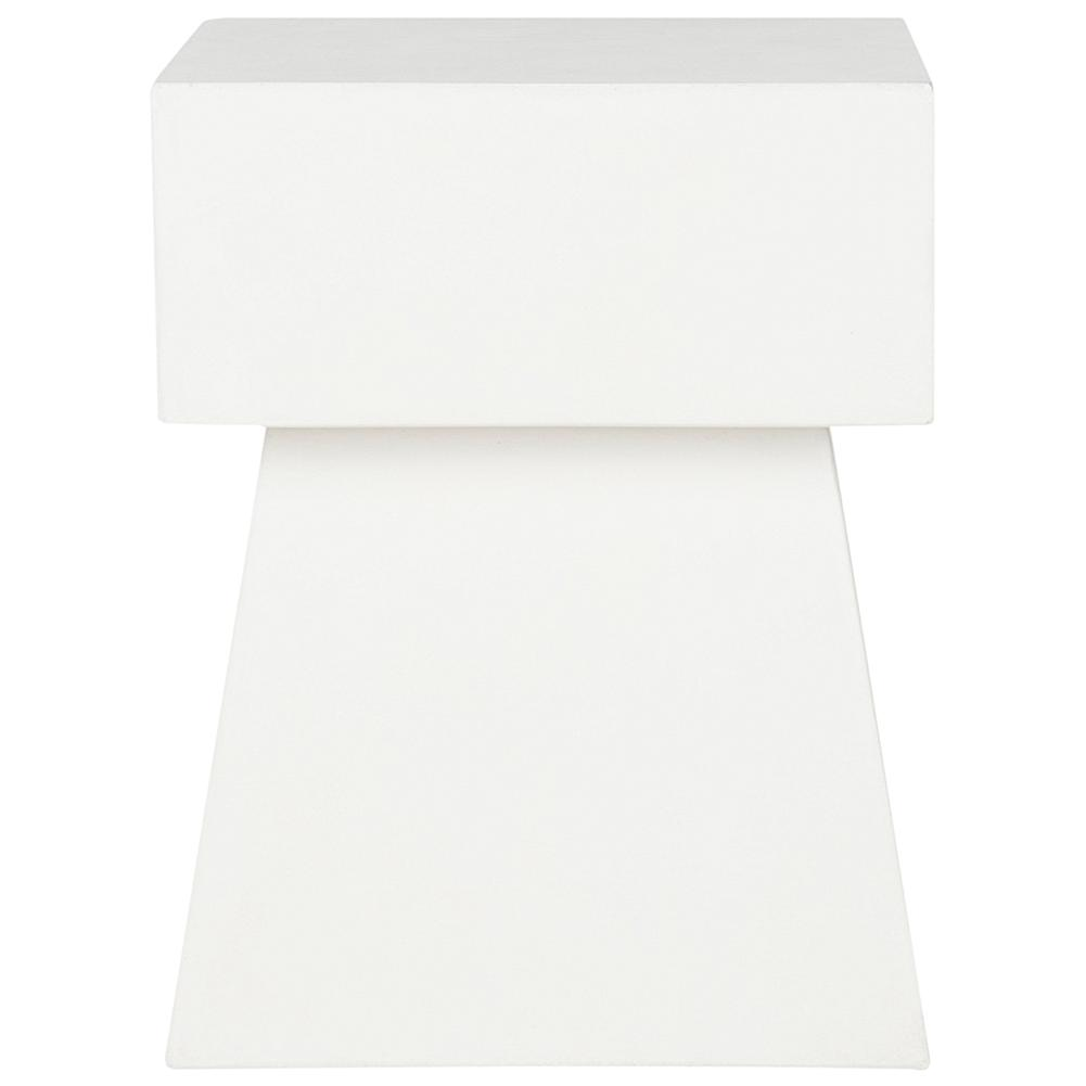 Safavieh Zen Mushroom Concrete Accent Table - Ivory