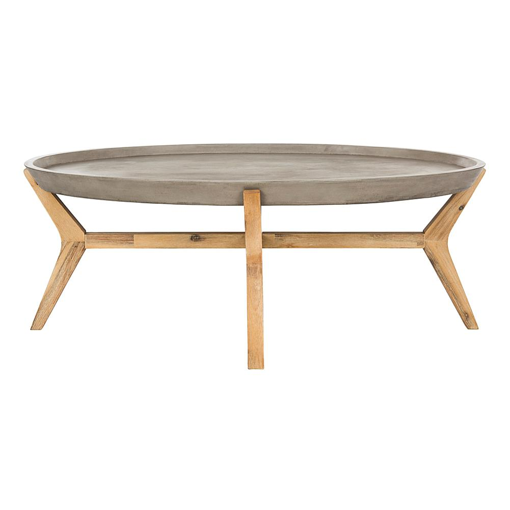 Safavieh Hadwin Modern Concrete Oval Coffee Table
