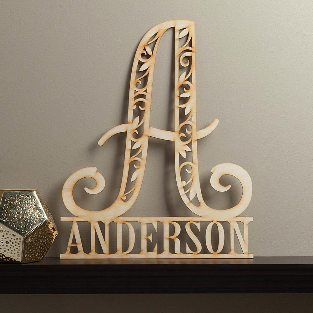 MBM Personalized Family Name Wood Plaque