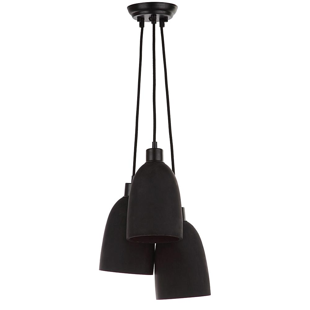 Safavieh Tres Shade Pendant Lamp - Black