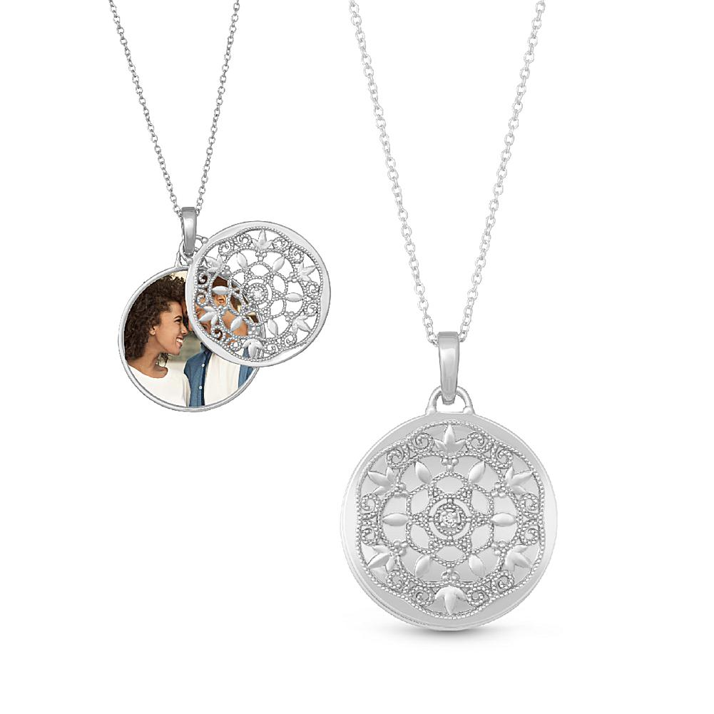 With You Lockets Sterling Silver Diamond-Accent Birdie
