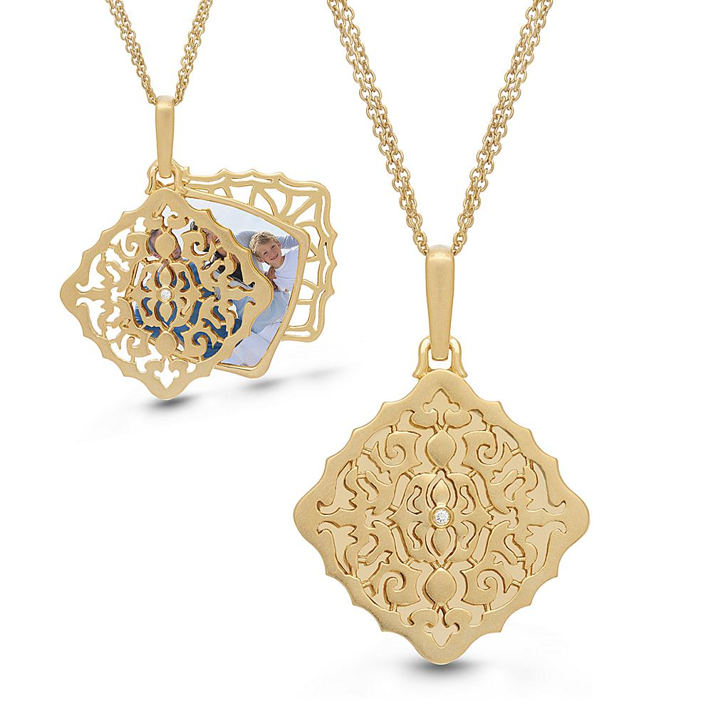 With You Lockets Sterling Silver .014ctw Diamond Mimi