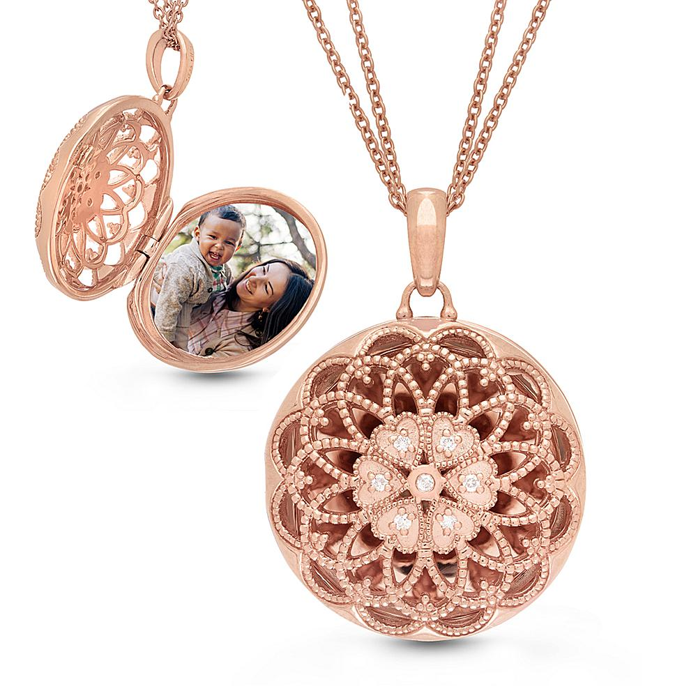 With You Lockets Sterling Silver Elaine
