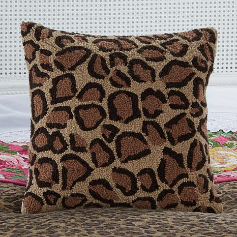 clever carriage home round leopard hooked rug    hsn, 8' round leopard rug, round animal rugs, round leopard area rugs