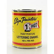 1-Shot Lettering Enamel Pint - Fire Red 102L