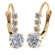 1.18ctw Absolute™ 14K Round 4-Stone Leverback Earrings