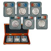 """1921 MS64 ICG PDS """"Last Year of Issue"""" Morgan Silver Dollars"""