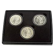 1921 PDS Uncirculated Last Morgan Silver Dollars
