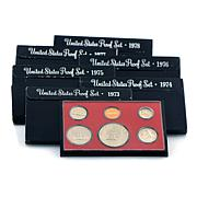 1973–1978 Proof S-Mint Sets with Eisenhower Dollars