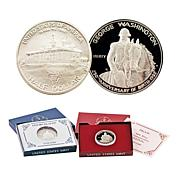 1982 D- & S-Mint George Washington Silver Half Dollars