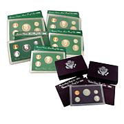 1984-1998 Purple & Green Pack US Mint Proof Sets/Eagle-Reverse Quarter