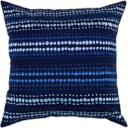 "20"" x 20"" Spotted Stripe Pillow - Indigo Blue/Blue"