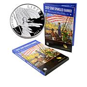 2012 P-Mint Proof Star Spangled Banner Silver Dollar