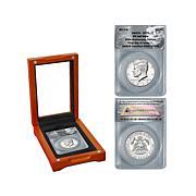 2014 SP70 ANACS FDOI LE 978 Silver Kennedy Half Dollar