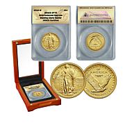 2016 SP70 ANACS Standing Liberty 24K Gold Quarter