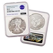 2017 MS70 NGC Burnished Premier Select Series Silver Eagle Dollar Coin