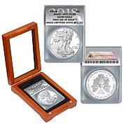 2018 PR70 ANACS FDOI LE 3957 Silver Eagle Dollar Coin