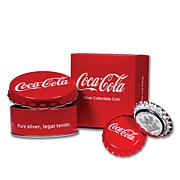 2018 Silver Proof Coca-Cola Bottle Cap Fiji $1 Coin