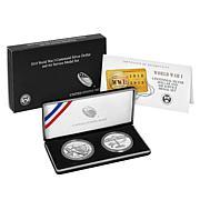 2018 WWI Centennial Silver Dollar and Air Service Silver Medal Set