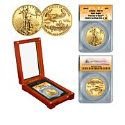 2019 MS70 ANACS First Day of Issue Limited Edition $25 Gold Eagle Coin