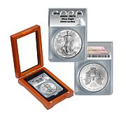 2020 MS70 ANACS Silver Eagle Dollar Coin in Window Box