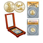 2020 PR70 ANACS FDOI Limited Edition of 43 $5 Gold Eagle Coin