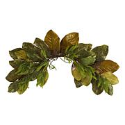 35 in. Fall Magnolia Leaf Artificial Swag
