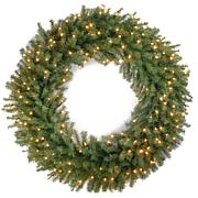 Norwood Fir Wreath with Clear Lights
