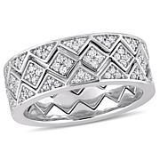 .61 ctw Diamond 14K White Gold 3-piece Stacked Band Ring Set