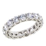 Absolute™ Clear CZ Round Prong-Set Eternity Ring