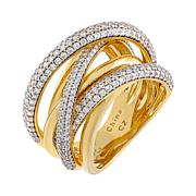 Absolute™ Sterling Silver Cubic Zirconia Pavé Style Ring