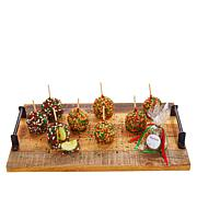 Affy Tapple 9-piece Holiday Festive Tree Apples Combo