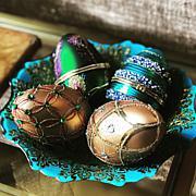 Alison Cork Ornate Egg Ornaments - Set of 4