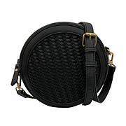 Anna Cai Faux Leather Basket Weave Crossbody Bag