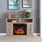 Antebellum Infrared Fireplace TV Stand - Burnt Oak
