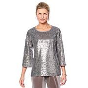 "Antthony ""Glamorous Life"" Sequin Top with Volume Sleeves"