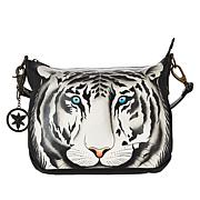 Anuschka Hand-Painted Leather Convertible Hobo with Accessories