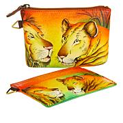 Anuschka Hand-Painted Leather Wallet Bundle