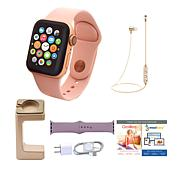 Apple Series 4 44mm Water-Resistant Sports Watch with Extra Band