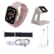 Apple Series 5 Sport Watch with Leather Band and Earbuds
