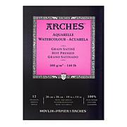 "Arches Watercolor Pad - 10"" x 14"" Hot Pressed 140 lb."