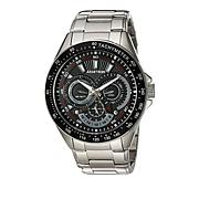 Armitron Men's 3-Subdial Stainless Steel Black Dial Tachymeter Watch
