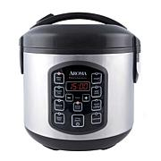 Aroma 8-cup (Cooked) Digital Rice Cooker, Multicooker & Food Steamer