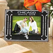 Art Glass Horizontal Picture Frame - Chicago White Sox