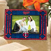 Art Glass Horizontal Picture Frame - Minnesota Twins