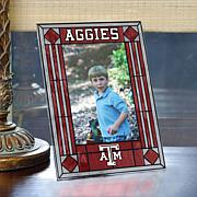 Art Glass Team Photo Frame - Texas A&M - College