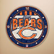 Art Glass Wall Clock - Chicago Bears